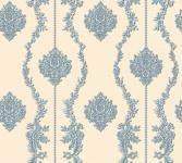 Vliestapete Barock Ornament Streifen Blume beige blau metallic 34493-6 Chateau 5