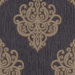 Edle Vliestapete Barock Ornament schwarz braun silber metallic glitzer 02491-70