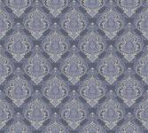 Vliestapete Barock Ornament blau grau metallic Großrolle 10, 05 x 1, 06 m 36453-2