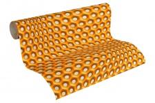 Vliestapete Retro 3D orange Grafisch Waben Design by Mac Stopa 32707-4
