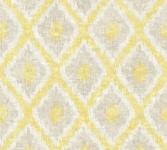 Vlies Tapete Ethno Rauten Muster Textil Optik gelb beige California 36376-1