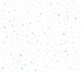 Vliestapete Kinder Bälle Punkte gepunktet Muster weiß blau 35855-2