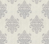 Vliestapete Barock Ornament grau silber Großrolle 10, 05 x 1, 06 m 36454-2 Melange
