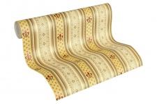 Vliestapete Streifen Heraldik Lilie creme beige braun rot Ornamente 33542-1