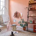 Design Uni Vlies Tapete feine Struktur orange apricot meliert Cozz 36299-7