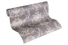 Luxus Vliestapete Floral Barock braun grau 33546-5 metallic Hermitage