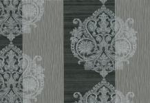 Vlies Tapete Barock Muster Ornament Streifen Optik schwarz silber grau 3502-30