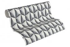 Vliestapete Retro 3D Kacheln grau Grafisch Design by Mac Stopa 32708-2