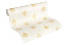 Luxus Vliestapete Streifen Barock Ornamente Floral creme gold 33084-4 Hermitage