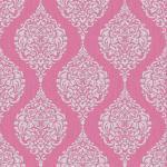 Barock Muster Ornament Tapete pink grau glitzer effekt klassisch 20-739