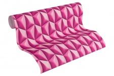 Vliestapete Retro 3D Kacheln pink lila Grafisch Design by Mac Stopa 32708-4