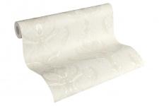 Luxus Vliestapete Floral Barock creme weiß 33546-1 metallic Hermitage