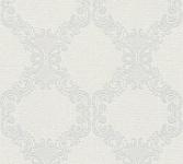 Vliestapete Barock Ornament creme weiß hellgrau 36090-1 Elegance - 5th Avenue