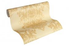 Luxus Vliestapete Barock Ornament beige gold glanz metallic 34143-4 Hermitage