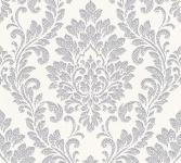 Vliestapete Barock Ornament weiß silber grau glanz 32984-1 Memory 3