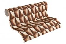 Vliestapete Retro 3D Kacheln braun creme Grafisch Design by Mac Stopa 32708-6
