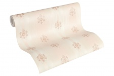 Luxus Vliestapete Streifen Barock Ornamente Floral creme rosa 33084-5 Hermitage