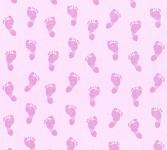 Vliestapete Kinder Baby Füße Fußabdruck rosa 35863-3
