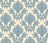 Vlies Tapete Barock Ornament beige blau glanz metallic 34492-6 Chateau 5