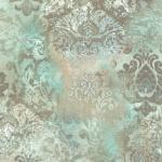 Vintage Queen Vlies Tapete Barock grün beige 02496-52 Großrolle 10, 05x1, 06m