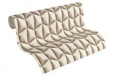 Vliestapete Retro 3D Kacheln creme beige Grafisch Design by Mac Stopa 32708-7