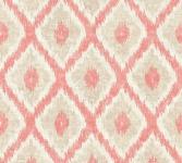 Vlies Tapete Ethno Rauten Muster Textil Optik rot beige California 36376-2