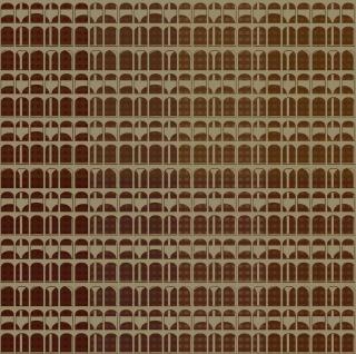 Vlies Tapete Karo Muster orange türkis braun gold metallic Textil Optik - Vorschau 4