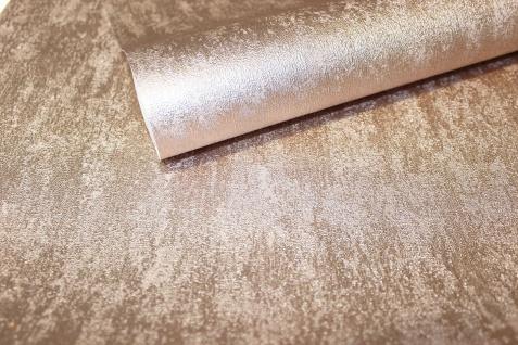 Vlies Tapete Uni Struktur Einfarbig Gold Silber Metallic Glanz