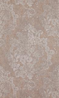 Vlies tapete neo barock ornament stein beton optik beige for Tapete ornament blau