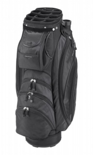 Silverline Golf Cartbag Portland, schwarz