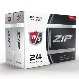 WILSON STAFF ZIP GOLFBALL, WHITE, 24ER-PACK