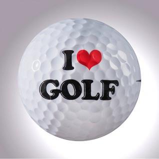 I love Golf magball (Deko) Schwarz oder Weiss
