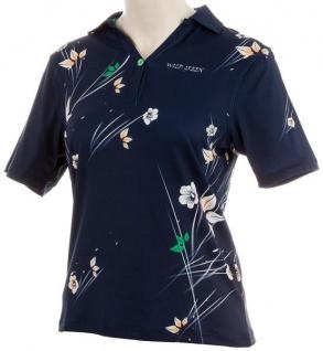Wild Green Mille Fleur Poloshirt für Damen
