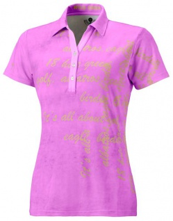 Wild Green Garment Lilac Poloshirt für Damen
