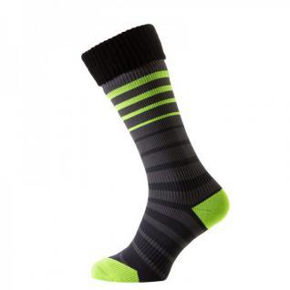 SealSkinz Thin Mid Cuff Sock - Schwarz/Grau/Gelb - 100% wasserdicht, atmungsaktiv und winddicht