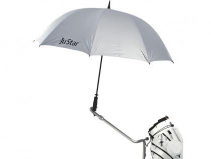 JuStar Golfschirm silber mit UV-Schutz