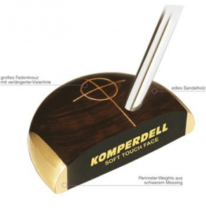 Komperdell Soft Touch Putter Woodgrain Steel RH