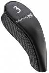 Silverline Single-Headcover Utility mit Magnetverschluss / schwarz / Graphite-Looking