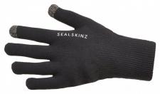 SealSkinz Ultra Grip Gloves: 100% wasserdicht, atmungsaktiv und winddicht, Schwarz, Größe M
