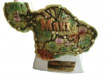 Sammlerstück: Hawaii Maui Rumflasche in Landkartenform