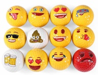 12 Stk. lustige Emoji Golfbälle