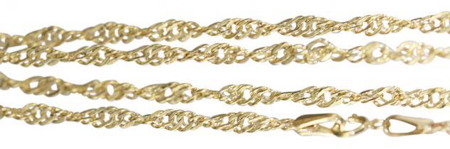 Singapurkette Gold 585 - Halskette 45 cm - Goldkette 14 kt - Kette Gold Collier