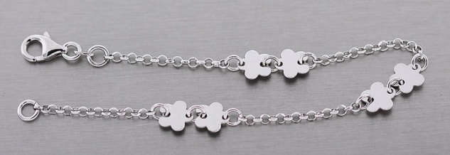 Zauberhaftes Armband Silber 925 mit Blumen Silberarmband Blume Armkette 925