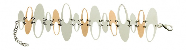 Designerarmband Silberarmband 925 Rotgold Armband Silber große Glieder Armkette