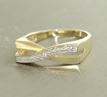 Top Design Goldring 585 Ring Gold mit Brillanten Damenring Brillantring