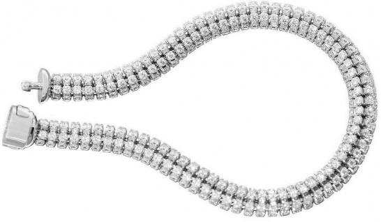 Armband Weißgold 585 mit Zirkonias Armkette Damen Armschmuck 14 KT