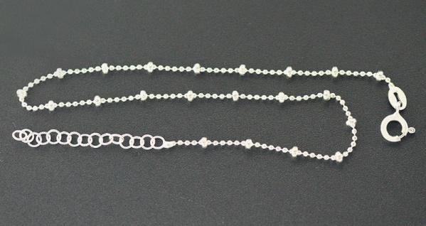 Fußkette Silber 925 feine massive Kugelkette Fußkettchen Silberkette Fußschmuck