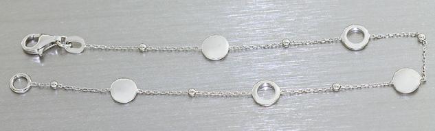 Feines Armband echt Silber 925 - Armkette - Silberarmband - Kugelarmband massiv