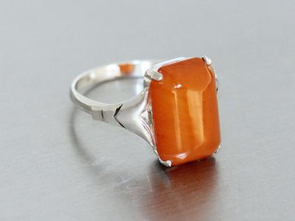 Ring in Silber (835) mit 1 Schmuckstein in orange Silberring