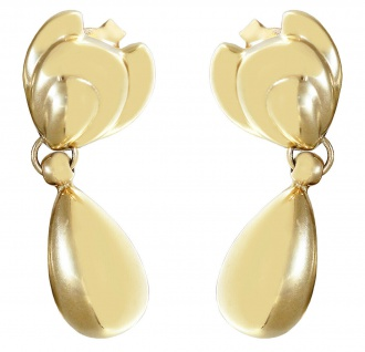 Ohrhänger Gold 750 Tropfen Ohrstecker 18 Karat Ohrringe 3, cm Ohrschmuck 7, 8 gr